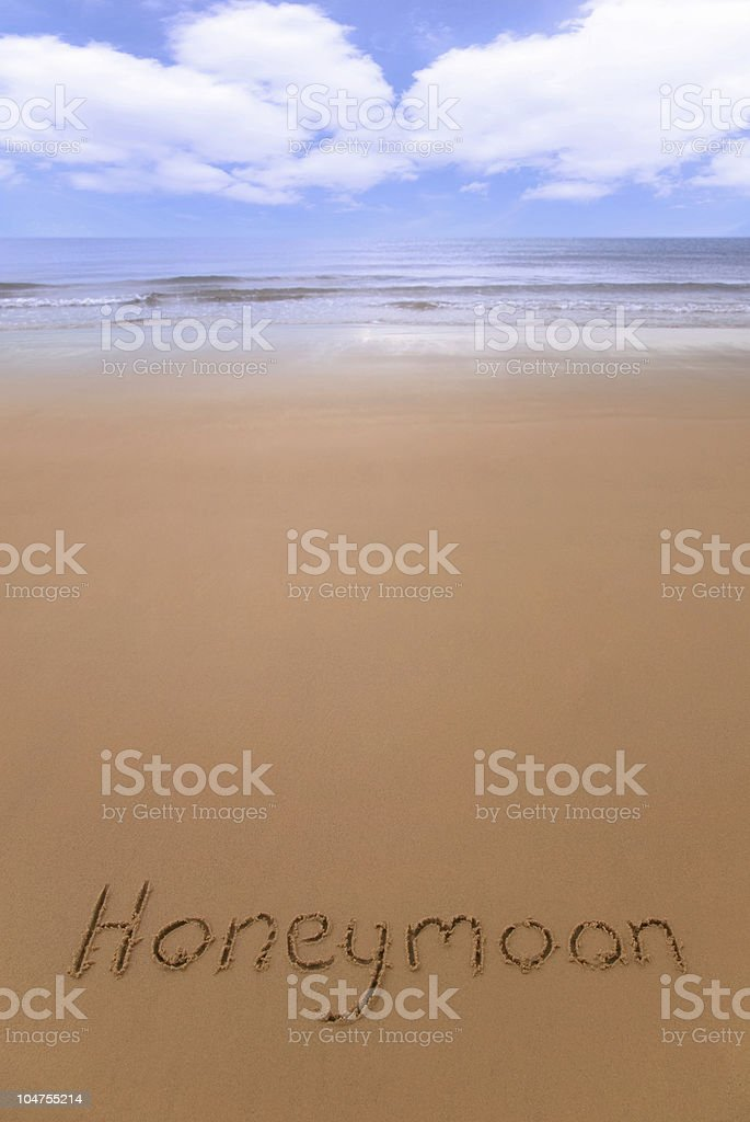 Honeymoon on the beach. royalty-free stock photo