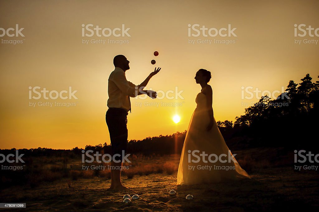 Honeymoon play royalty-free stock photo
