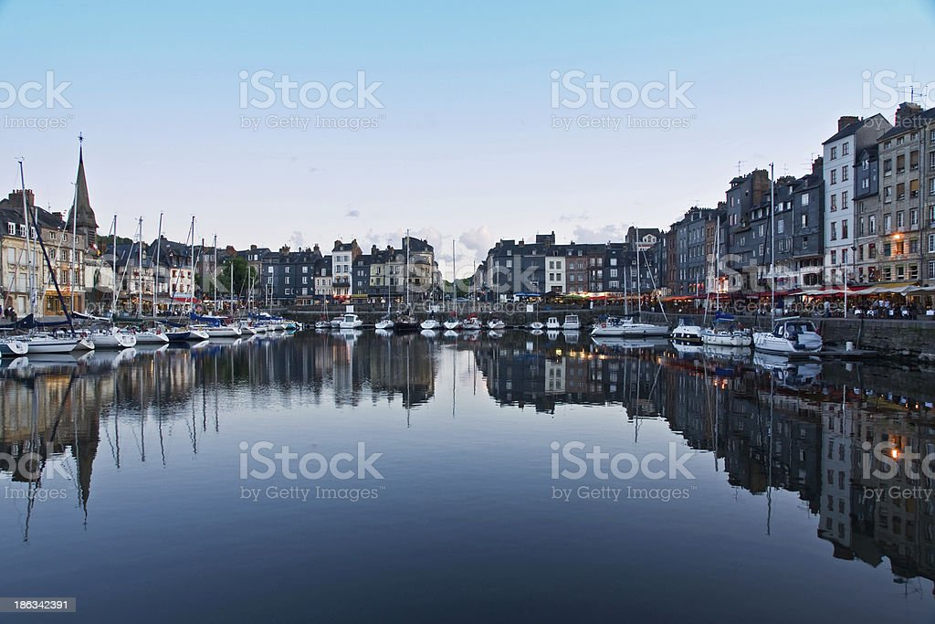 Honfleur harbour (France) stock photo