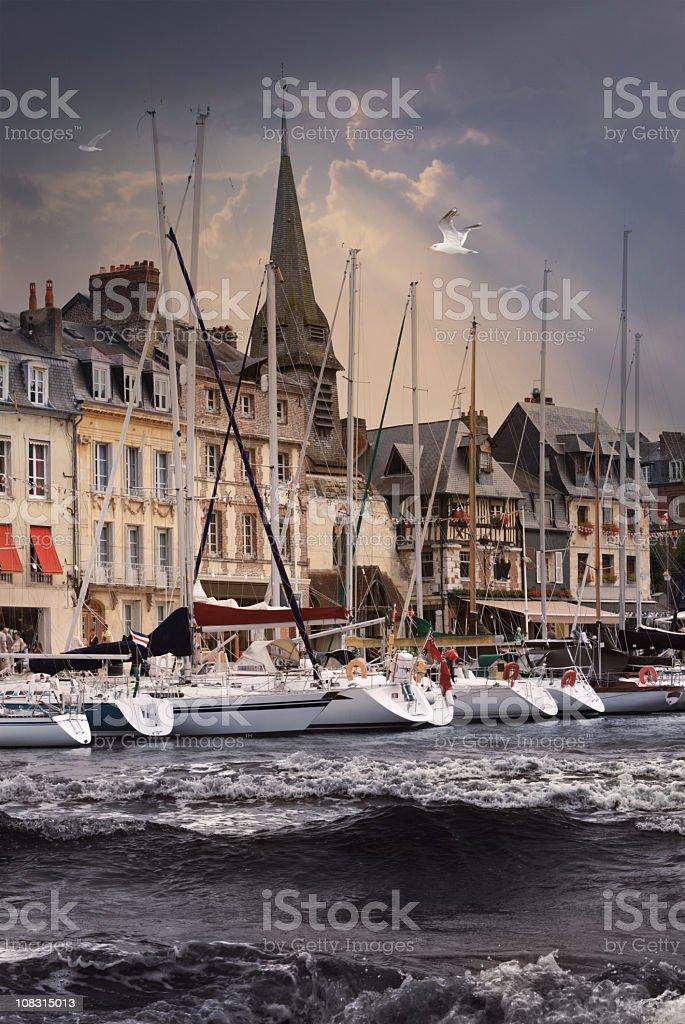Honfleur port stock photo