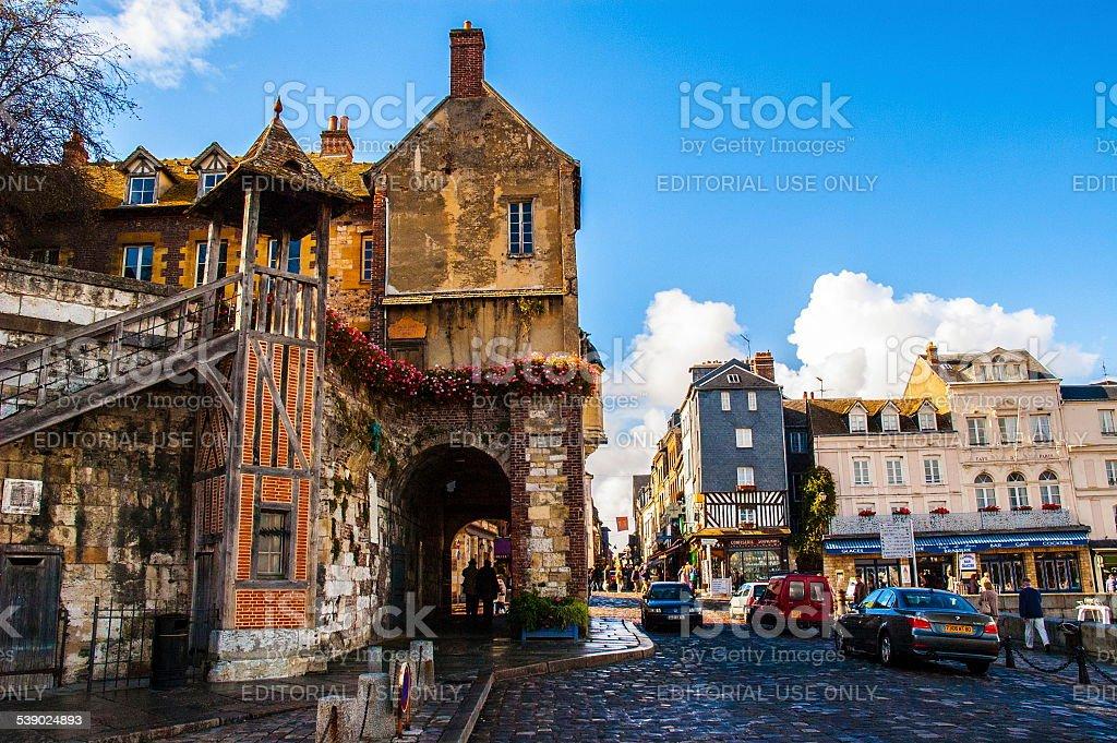 Honfleur town stock photo