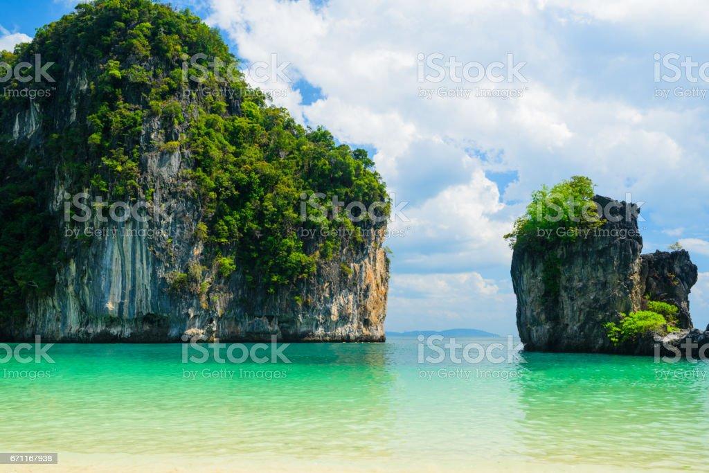 Hong island lagoon tropical Andaman stock photo