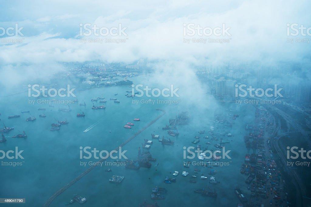 Hong Kong aerial view stock photo