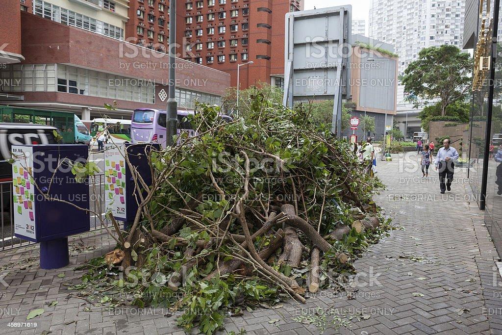 Hong Kong after typhoon royalty-free stock photo