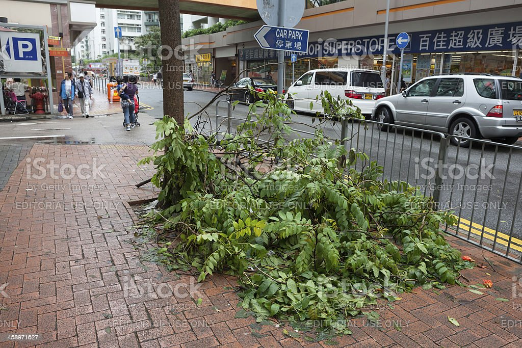 Hong Kong after typhoon royalty-free stock photo
