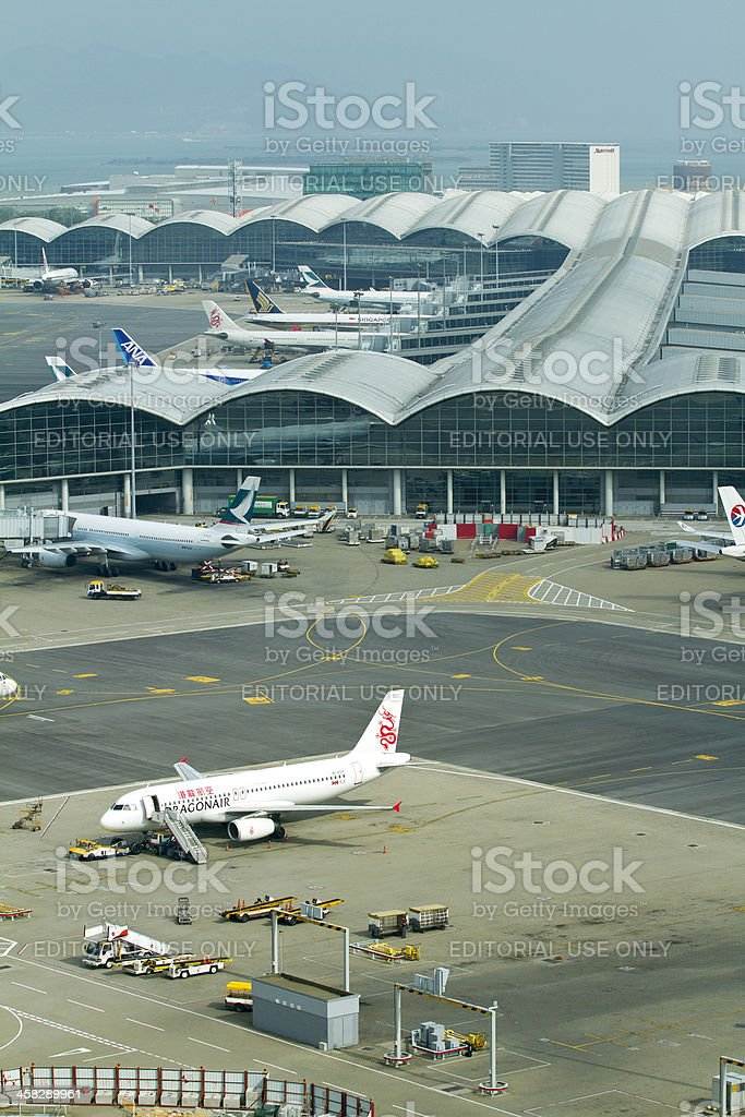 Hong Kong Airport royalty-free stock photo