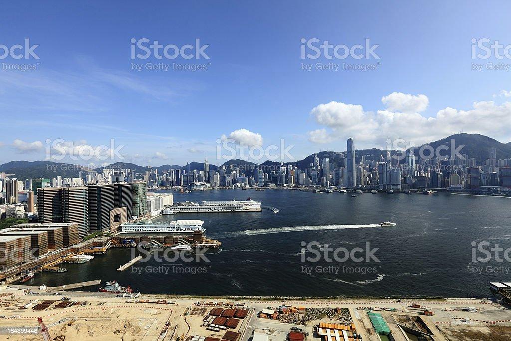 Hong Kong and Kowloon stock photo