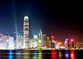Hong Kong and Victoria Harbor at night