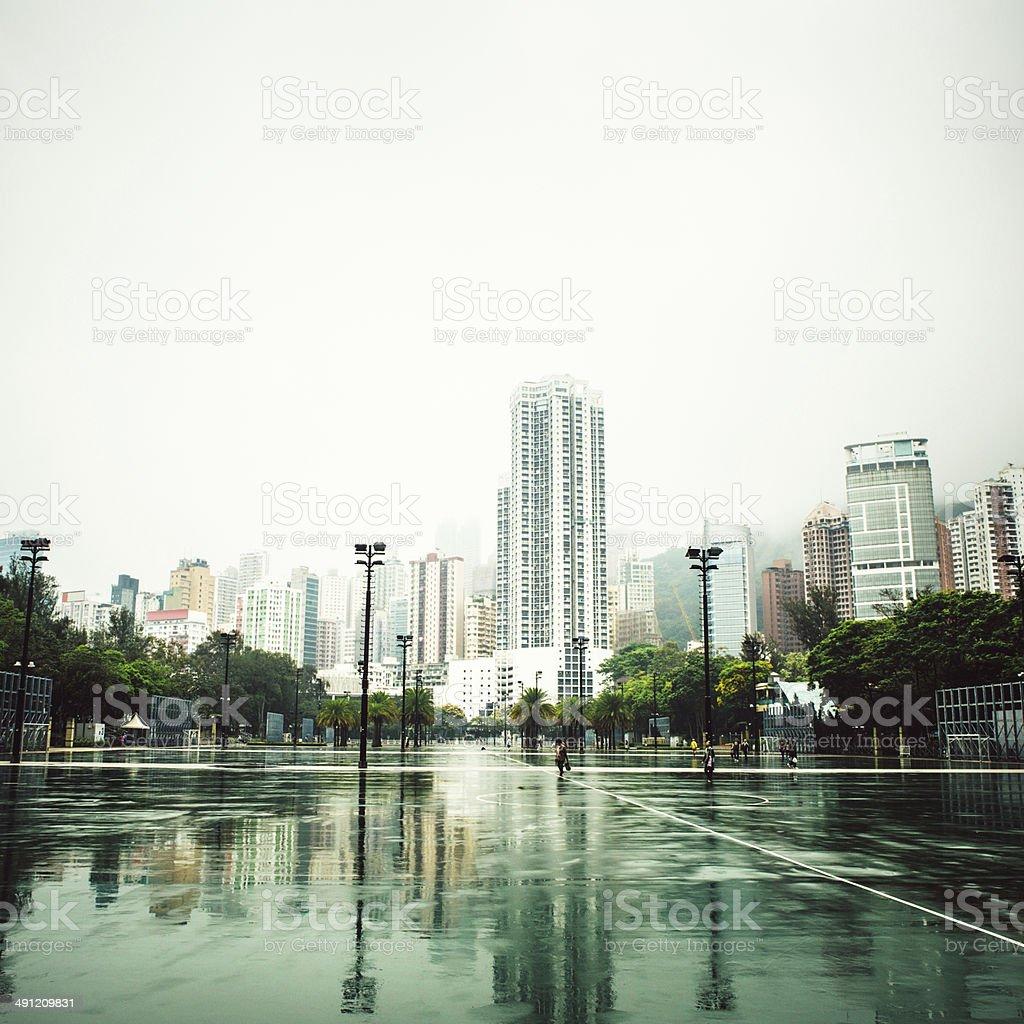 Hong Kong and Victoria Park stock photo
