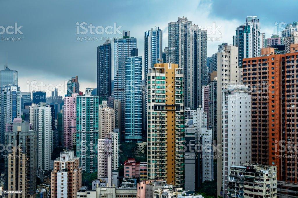 Hong Kong apartment block stock photo