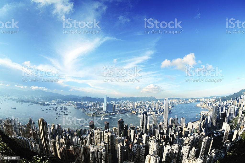 Hong Kong at Day royalty-free stock photo