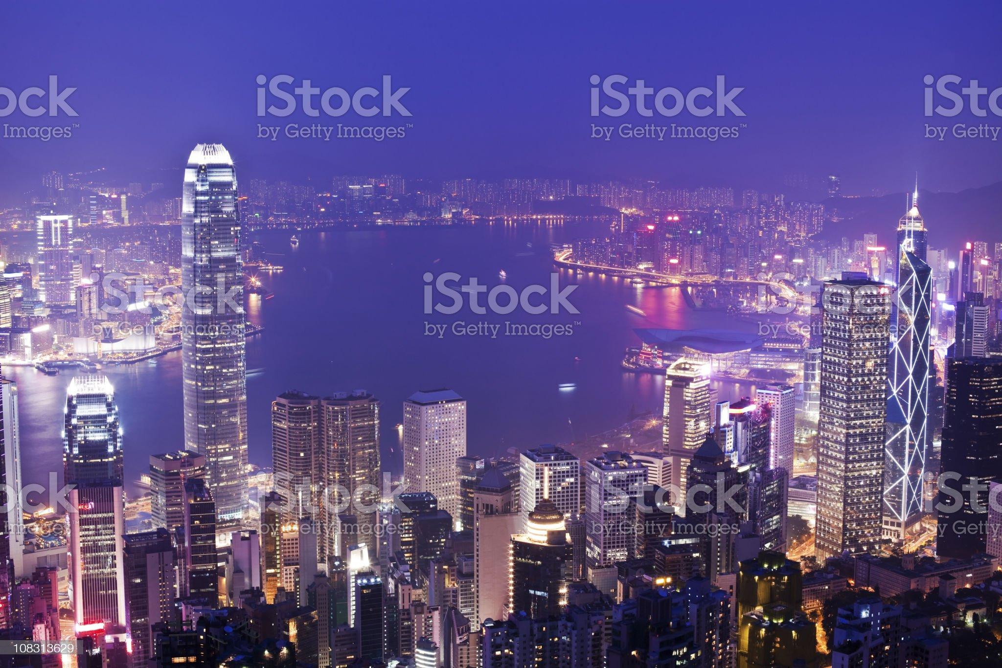 Hong Kong at night (XXXL) royalty-free stock photo