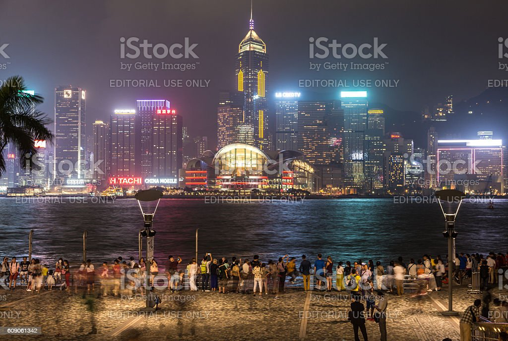 Hong Kong avenue of Stars stock photo