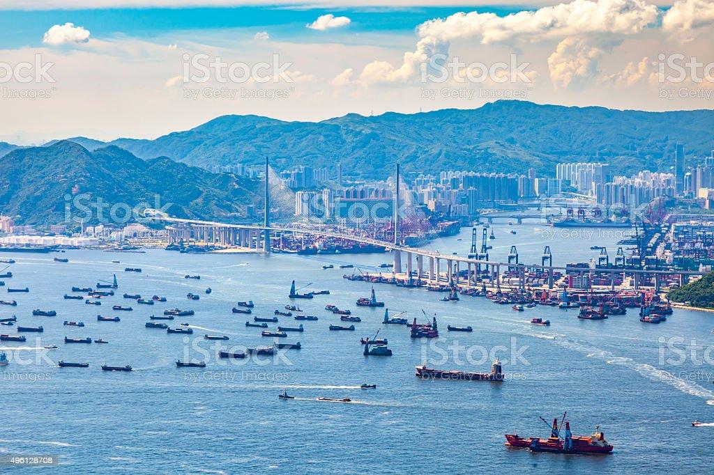 hong kong bay stock photo