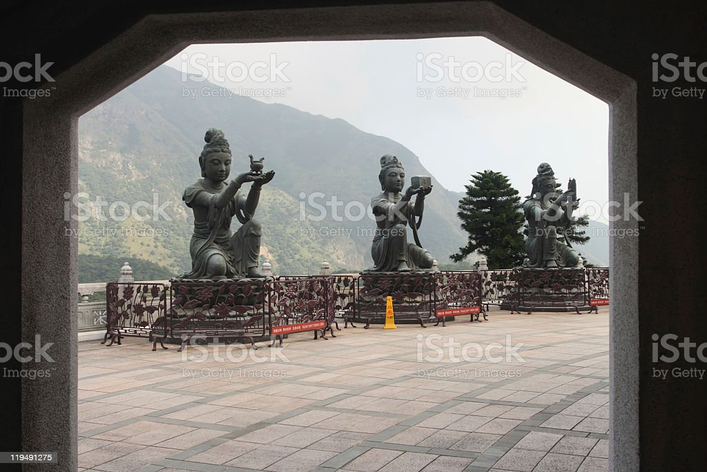 Hong Kong Buddha devas royalty-free stock photo