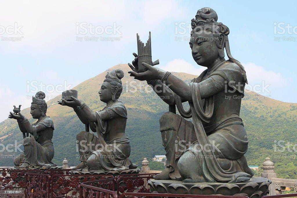 Hong Kong Buddha devas stock photo