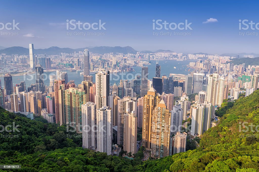 hong kong building as Victoria Peak stock photo