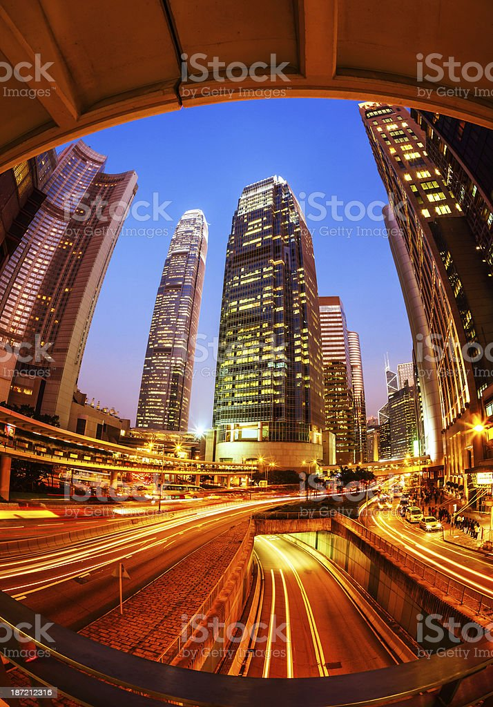Hong Kong Business District royalty-free stock photo
