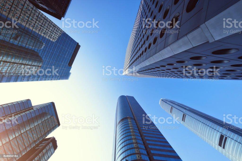 Hong Kong Business District stock photo