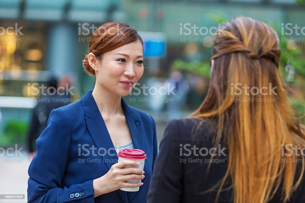 Hong Kong Business Women stock photo