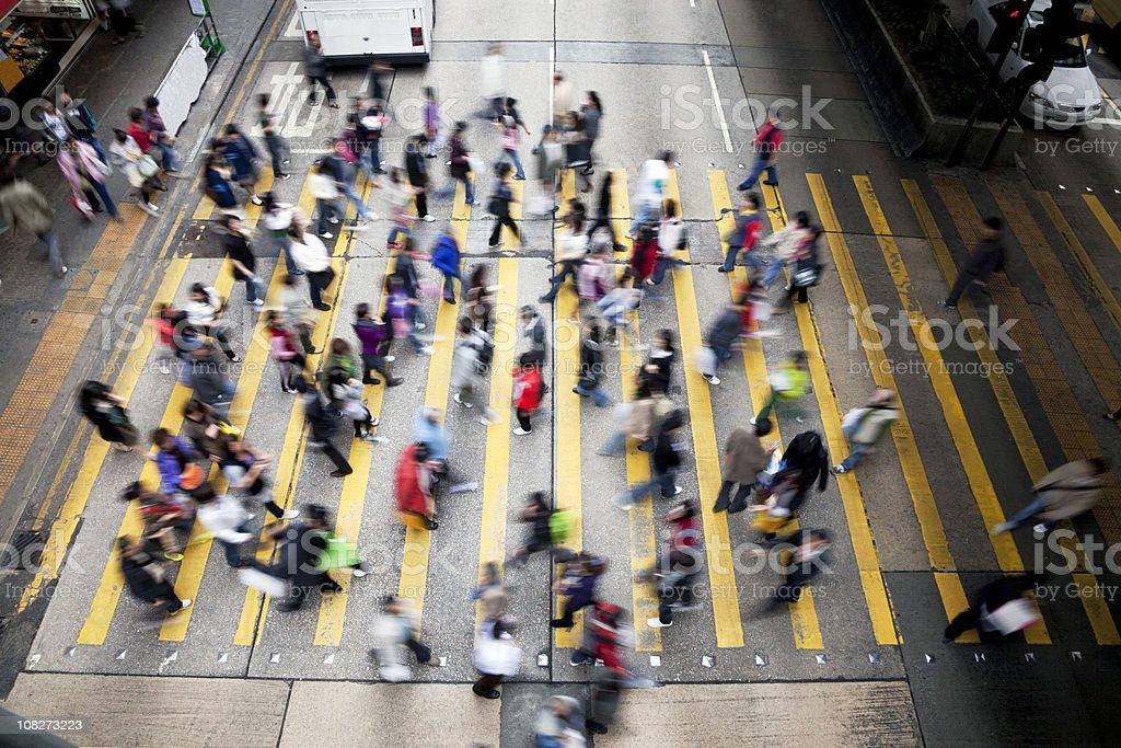 Hong Kong Busy Street. stock photo