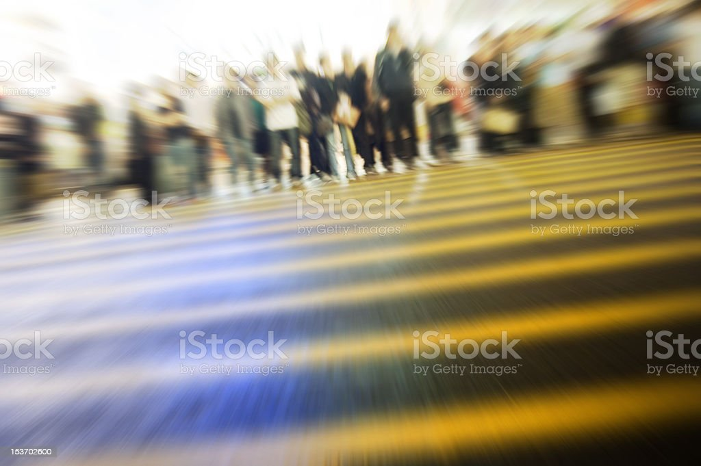 Hong Kong busy street royalty-free stock photo