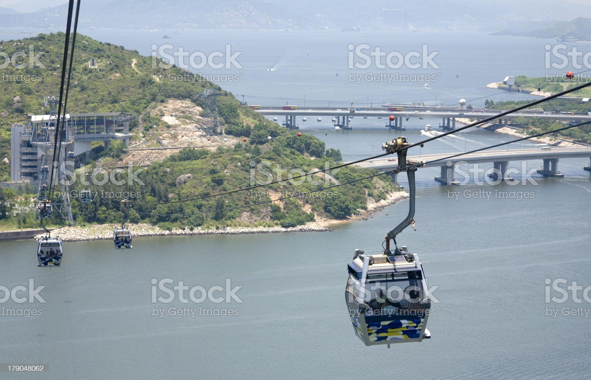Hong Kong Cable Car royalty-free stock photo