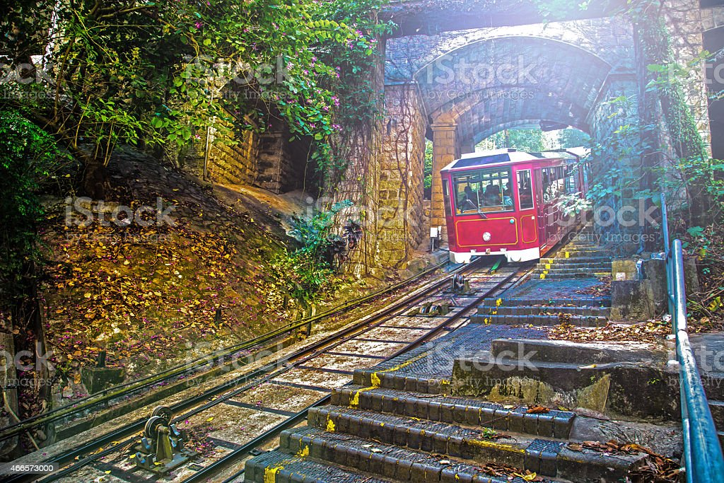 Hong Kong cable car stock photo