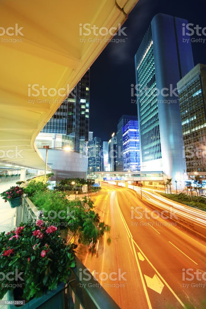 Hong Kong Central at night royalty-free stock photo