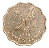 Hong Kong cents coin