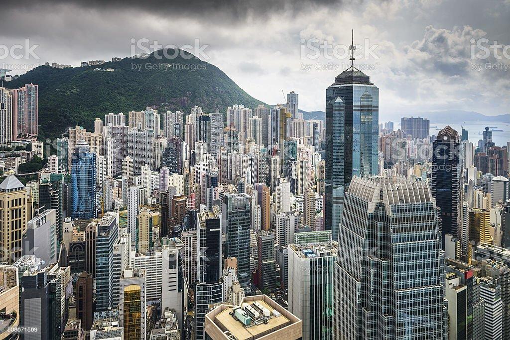 Hong Kong China City Skyline stock photo