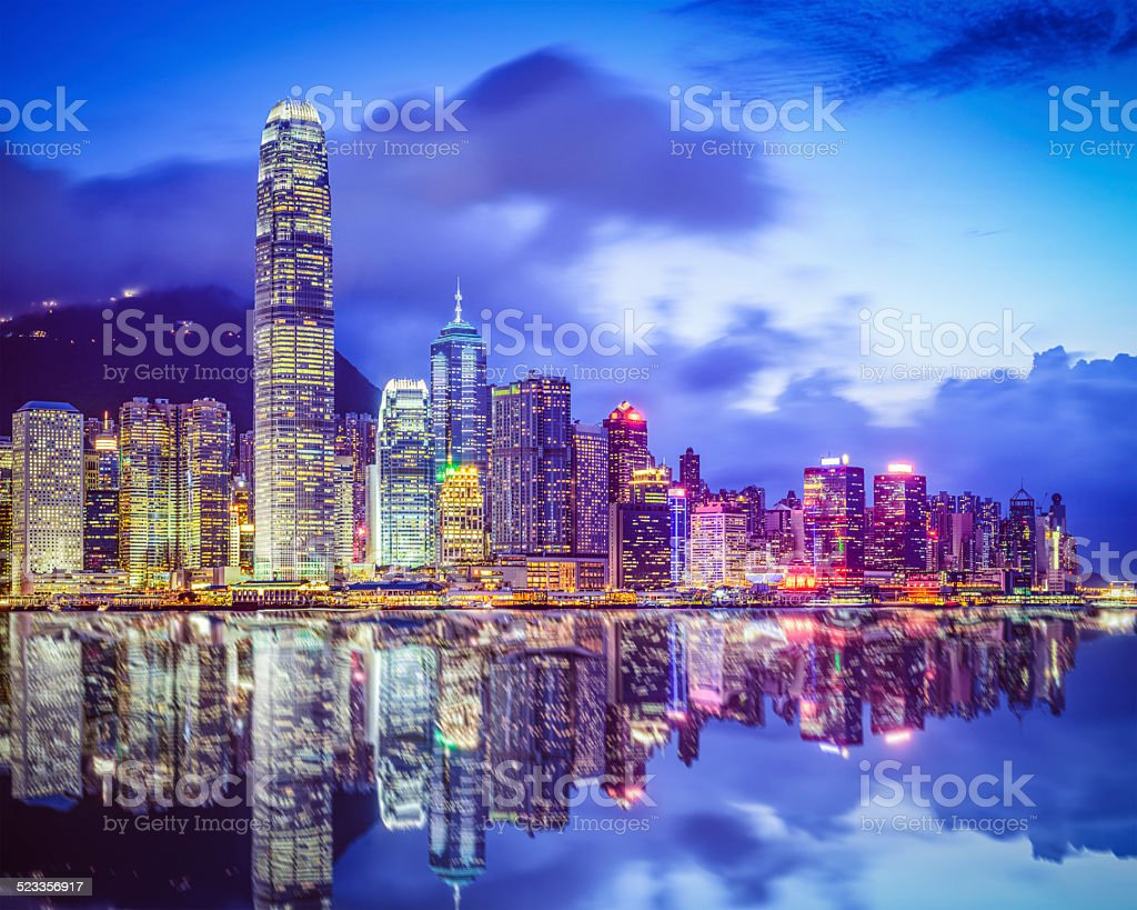 Hong Kong China City Skyline stock photo