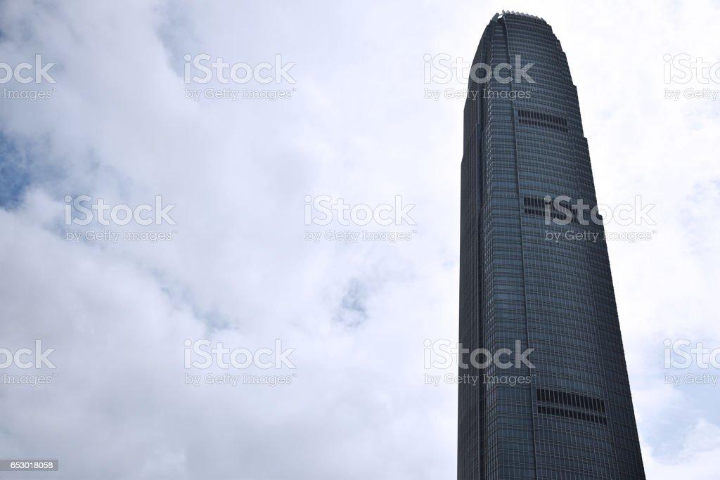 Hong Kong, China - January 30, 2017 - View of IFC tower in Hong Kong island stock photo