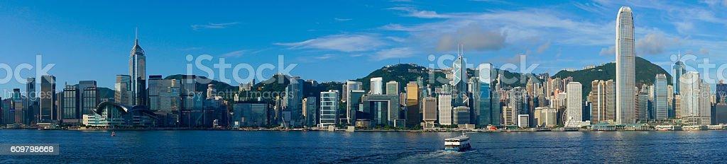 Hong Kong city at day time stock photo