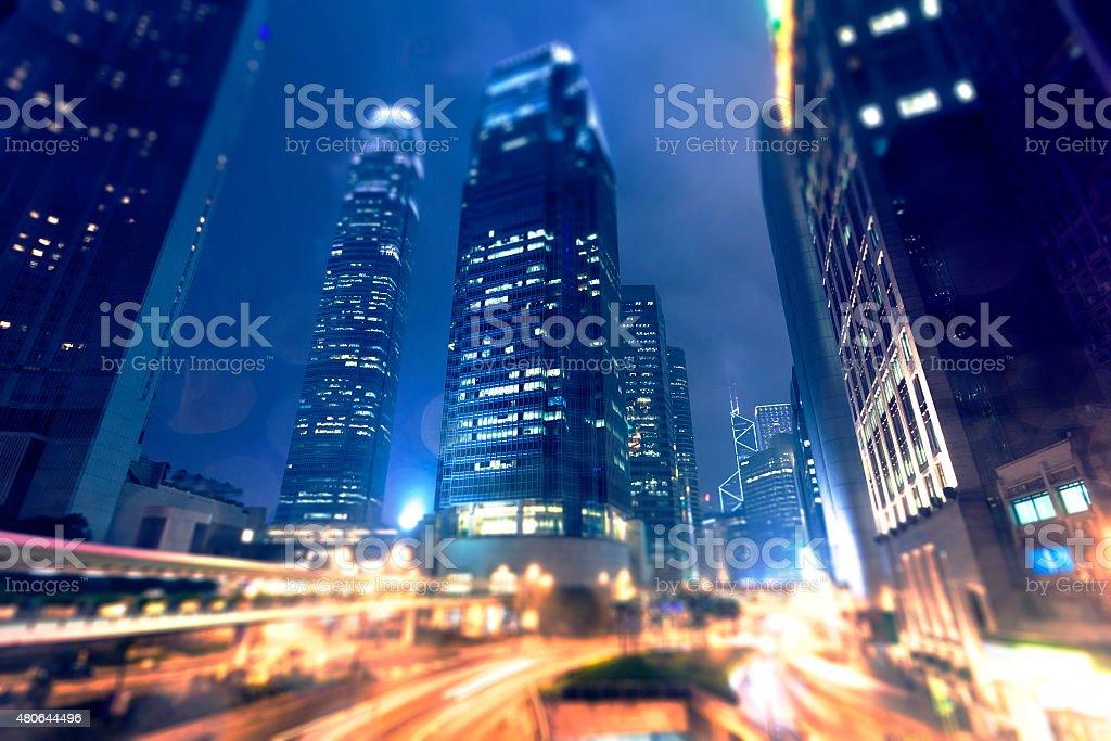 Hong Kong city, night stock photo