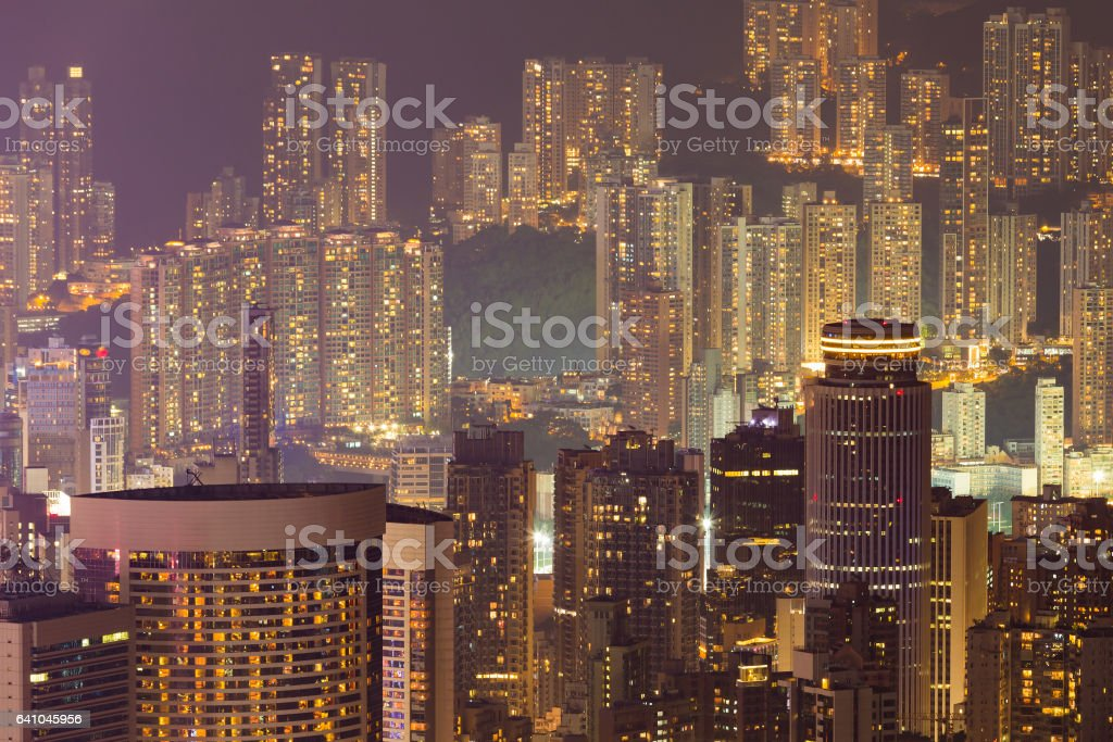 Hong Kong city residence apartment stock photo