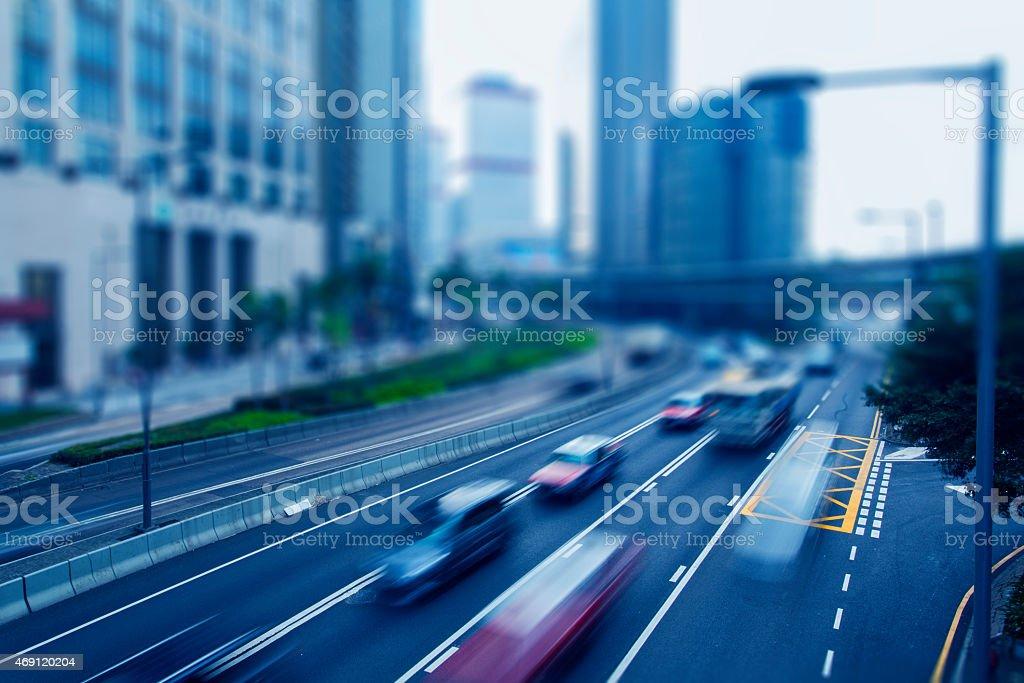 Hong Kong city road stock photo