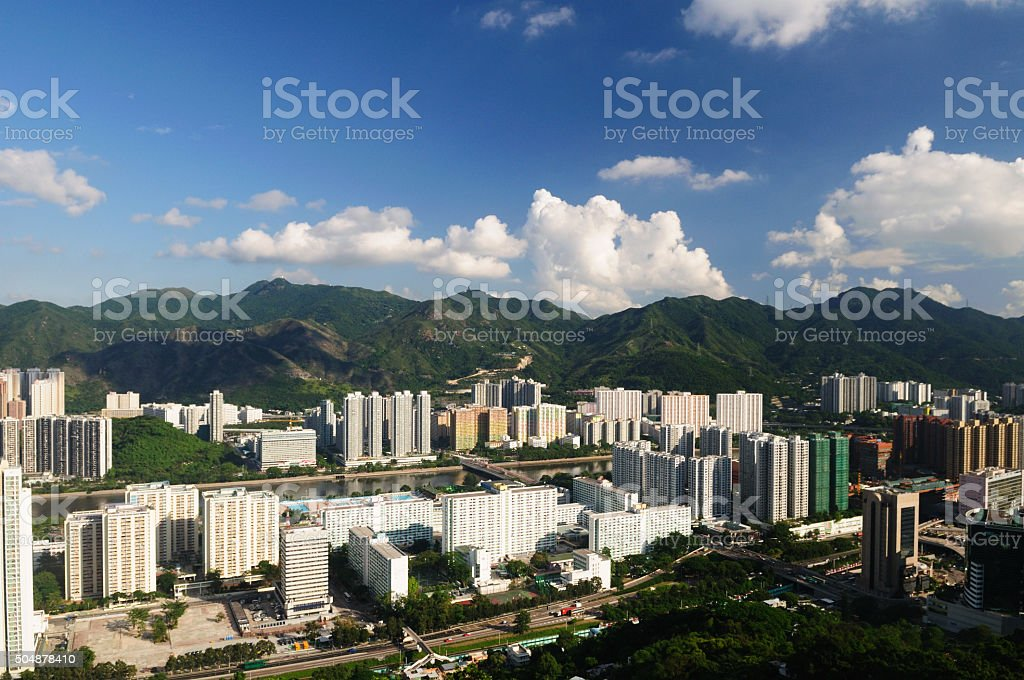 Hong Kong City Shatin stock photo