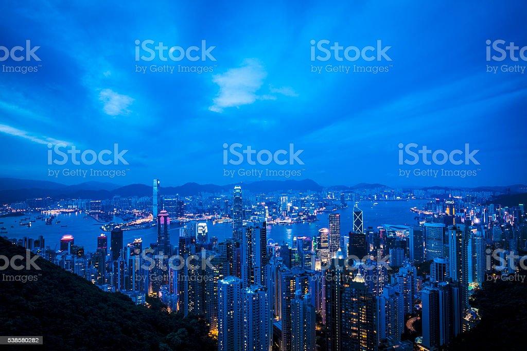 Hong Kong city skyline stock photo