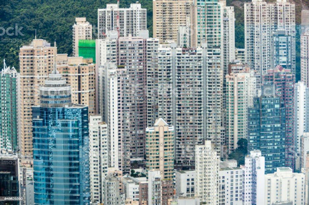 Hong Kong cityscape and skyline stock photo