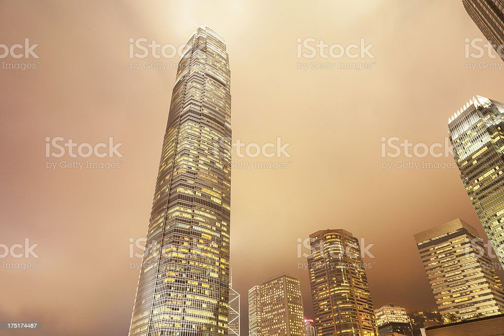 Hong Kong Cityscape in Fog royalty-free stock photo