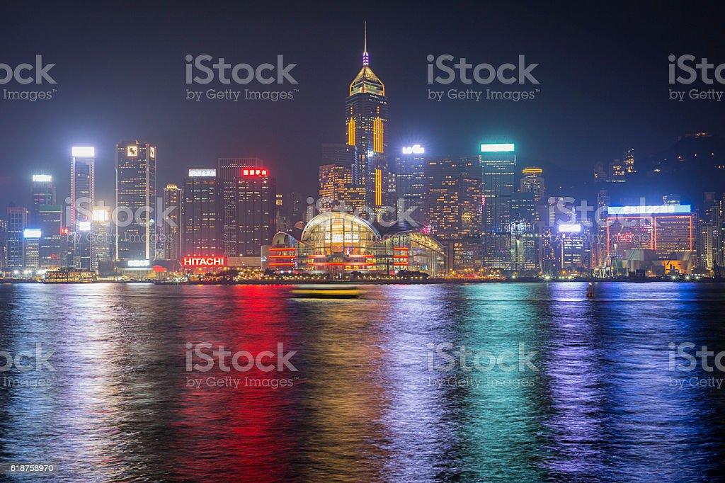 Hong Kong cityscape night view stock photo
