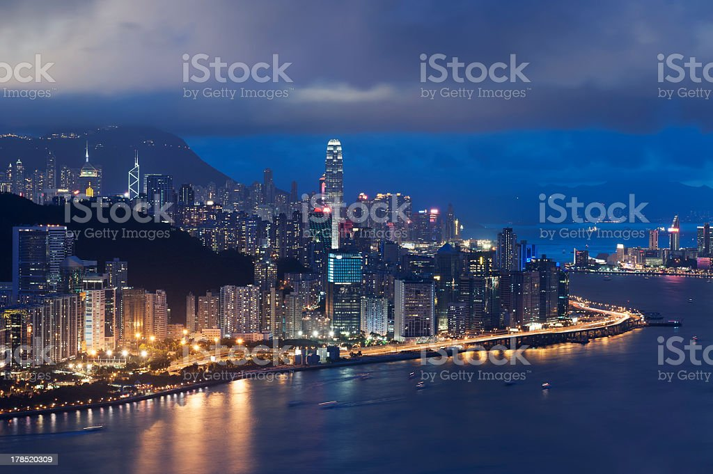Hong Kong Cityscape royalty-free stock photo