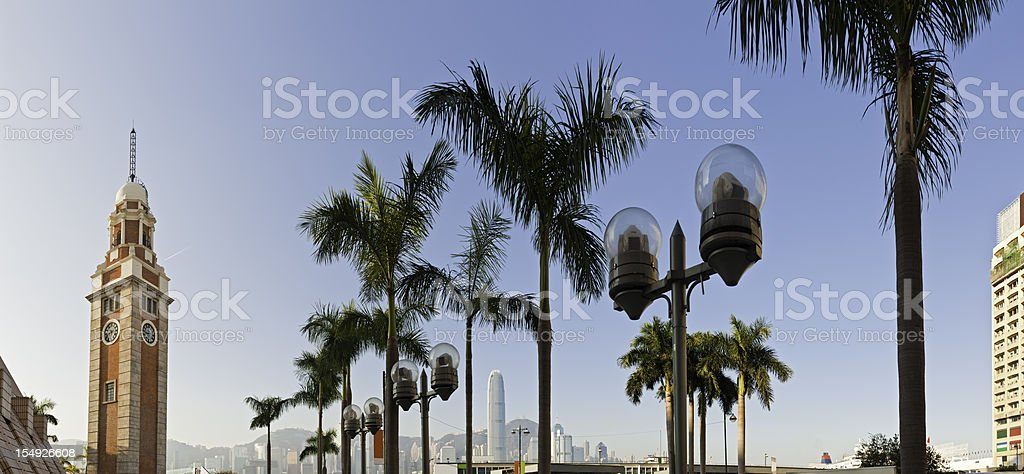 Hong Kong Clock Tower ferry terminal Tsim Sha Tsui China stock photo