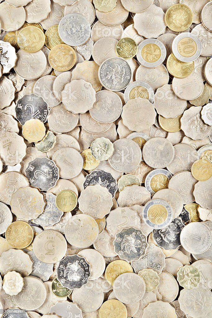 Hong Kong Coins royalty-free stock photo