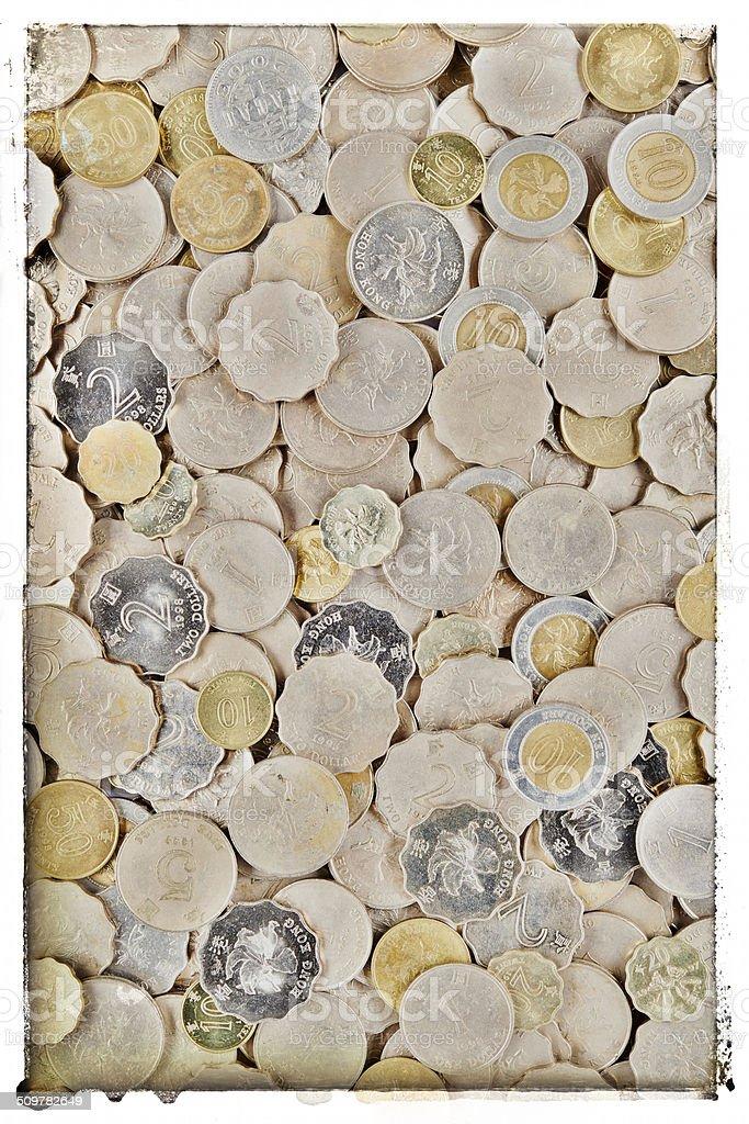Hong Kong Coins stock photo