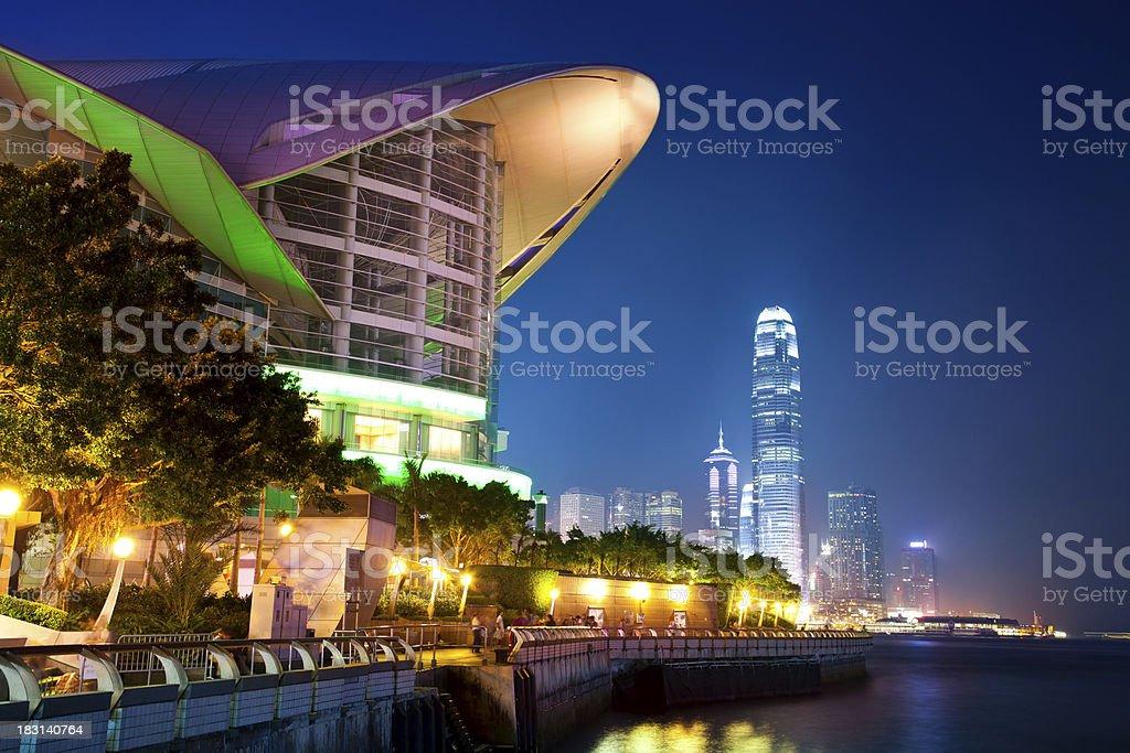 Hong Kong Conference Center stock photo