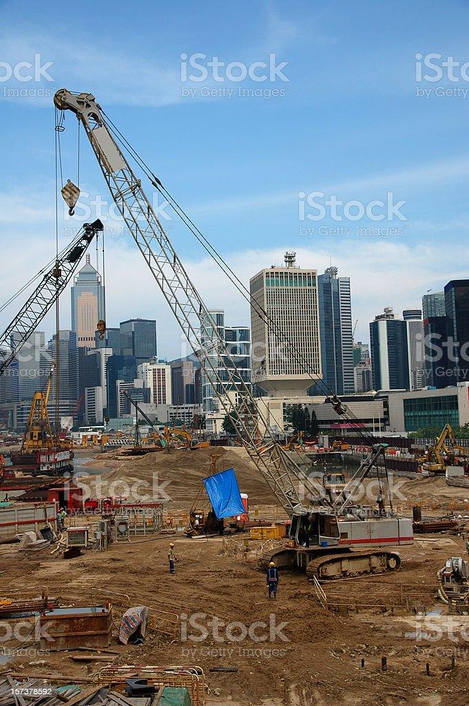 Hong Kong Construction Site royalty-free stock photo
