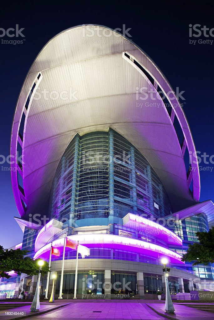 Hong Kong Convention and Exhibition Center stock photo