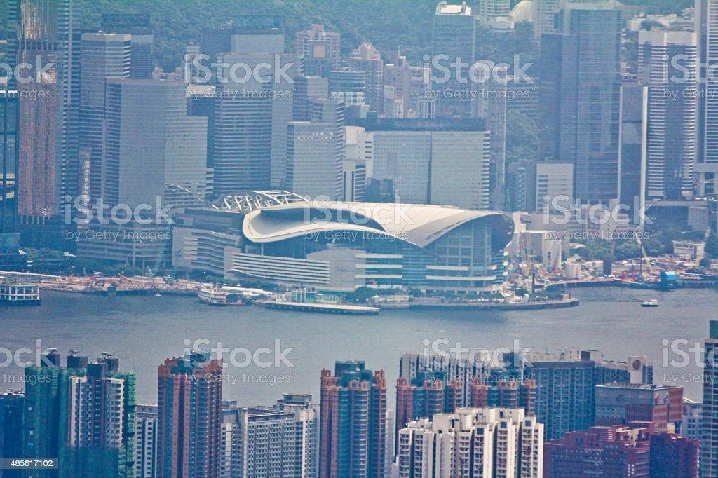 Hong Kong Convention Center stock photo